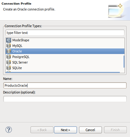 Create Connection Profile Page 1