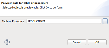 Preview Data Table Definition Dialog