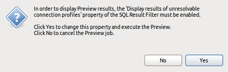 Show SQL Result View Confirm Dialog