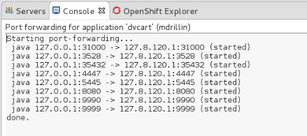OpenShift-PortForwardSuccessInConsole.png