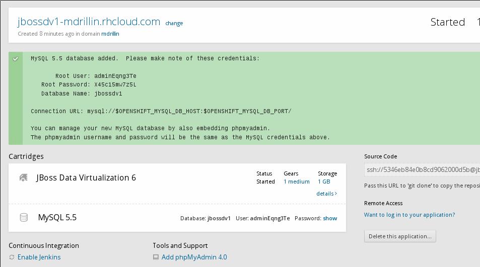 OpenShift-MySQLSuccessPage.png