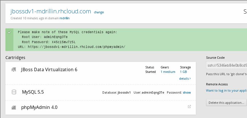 OpenShift-phpMyAdminSuccessPage.png