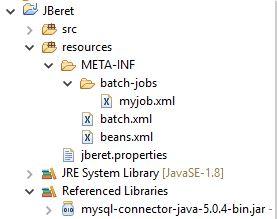 Eclipse Project JBeret MySQL jar.JPG