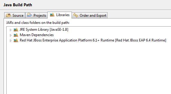 Jboss IDE Project classpath snapshot
