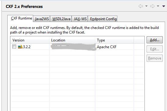 CXF Preference