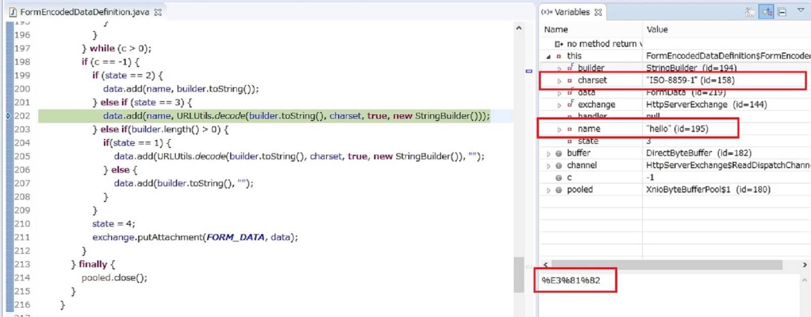 'FormEncodedDataDefinition$FormEncodedDataParser' uses the default 'ISO-8859-1' encoding.